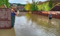 В результате обильных дождей река Басла вышла из берегов